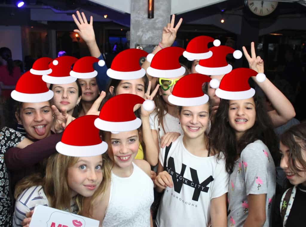 מציאות רבודה לאירועים... כובעי סנטה!