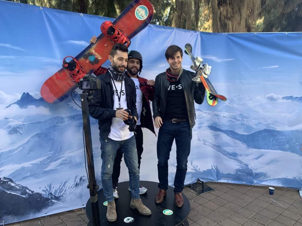 עמדת 360 לאירוע עסקי בנוסח סקי ;)