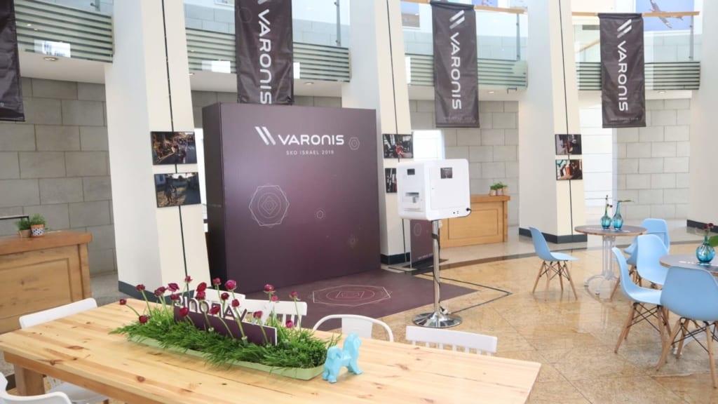 עמדת צילום - אירוע עסקי שעשינו לVaronis