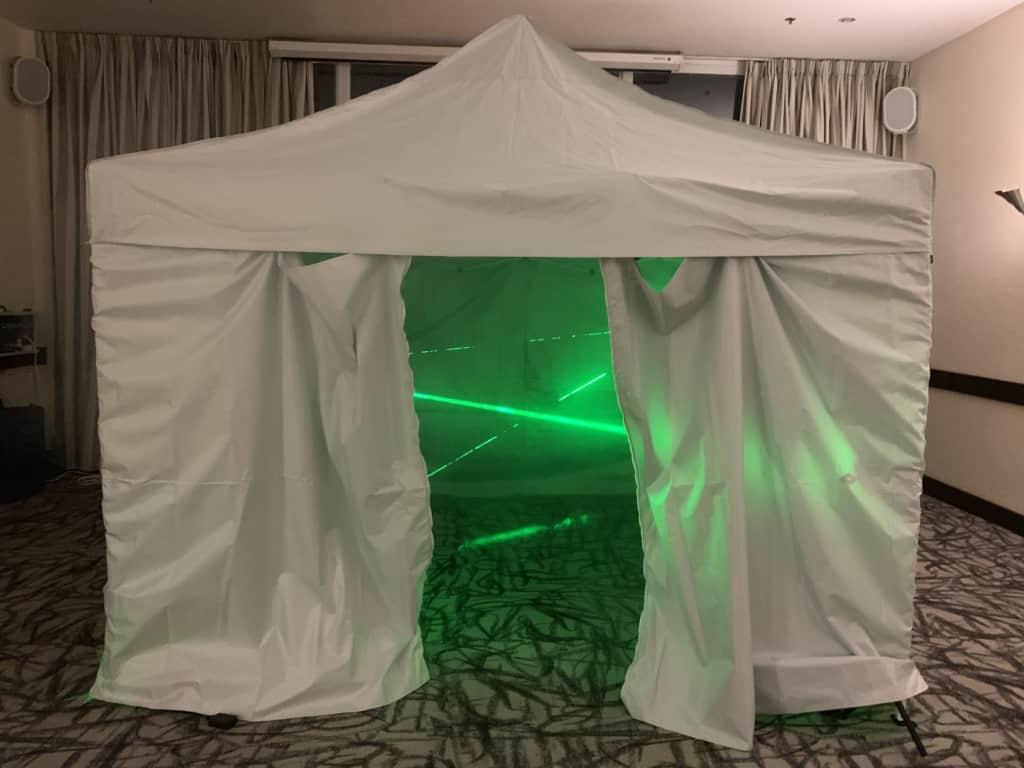 אוהל מבוך לייזר לאירועים - FaceIt